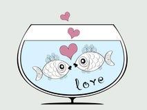 τα ψάρια αγαπούν δύο Στοκ Εικόνα