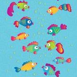 Τα ψάρια επικοινωνούν το άνευ ραφής σχέδιο κινούμενων σχεδίων Ελεύθερη απεικόνιση δικαιώματος