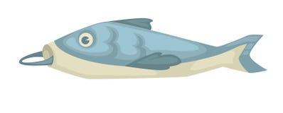 Τα ψάρια με το γάντζο στο στόμα απομόνωσαν το υποβρύχιο ζώο θάλασσας ελεύθερη απεικόνιση δικαιώματος