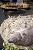 τα ψάρια τηγάνισαν μεξικανό Στοκ Εικόνες