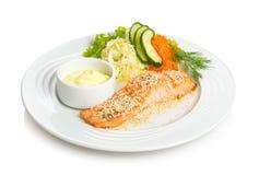 τα ψάρια τηγάνισαν το κόκκι&n Στοκ εικόνες με δικαίωμα ελεύθερης χρήσης
