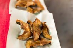 Τα ψάρια τηγάνισαν το ταϊλανδικό ύφος τροφίμων Στοκ φωτογραφίες με δικαίωμα ελεύθερης χρήσης