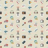 Τα ψηφιακά αντικείμενα Μέσων Μαζικής Επικοινωνίας χρωματίζουν το απλό επίπεδο Στοκ φωτογραφία με δικαίωμα ελεύθερης χρήσης