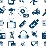 Τα ψηφιακά αντικείμενα Μέσων Μαζικής Επικοινωνίας χρωματίζουν το απλό επίπεδο Στοκ Εικόνες