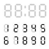 τα ψηφιακά ψηφία ρολογιών γεμίζουν παίρνουν leds ακριβώς σωστά περιττό σε επάνω Ψηφιακοί αριθμοί υπολογιστών Επιστολές ξυπνητηριώ απεικόνιση αποθεμάτων