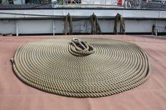 Τα ψηλά σκάφη - μια σπείρα του σχοινιού - λεπτομέρειες Στοκ εικόνα με δικαίωμα ελεύθερης χρήσης