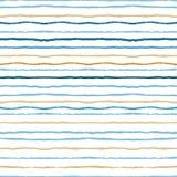 Τα λωρίδες Watercolor κτυπούν το άνευ ραφής σχέδιο Στοκ Φωτογραφίες