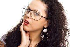 τα όμορφα γυαλιά απομόνωσ&al Στοκ Εικόνα