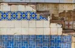 Τα όμορφα κεραμίδια διακοσμούν τους τοίχους στην παλαιά Αβάνα, Κούβα Στοκ φωτογραφία με δικαίωμα ελεύθερης χρήσης