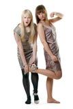 τα όμορφα κορίτσια ντύνουν  Στοκ Φωτογραφίες