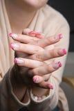 τα όμορφα νύχια Στοκ Εικόνα
