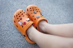 Τα όμορφα παπούτσια παραλιών μου Στοκ Εικόνες