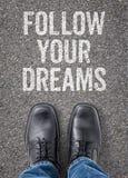 τα όνειρα ακολουθούν τ&omicron Στοκ εικόνα με δικαίωμα ελεύθερης χρήσης