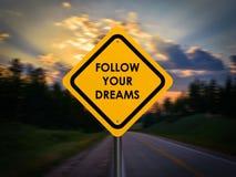 τα όνειρα ακολουθούν τ&omicron Στοκ Φωτογραφία