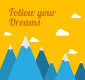 τα όνειρα ακολουθούν τ&omicron Στοκ εικόνες με δικαίωμα ελεύθερης χρήσης