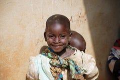 Τα δύο αφρικανικά παιδιά Στοκ φωτογραφίες με δικαίωμα ελεύθερης χρήσης