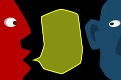 Επικοινωνία μεταξύ δύο φίλων απεικόνιση αποθεμάτων