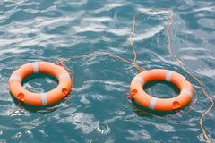 Τα δύο lifebuoys Στοκ Εικόνες
