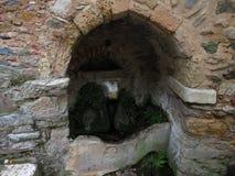 Τα aries ποτίζουν την άνοιξη στο μοναστήρι Kaisariani Στοκ Φωτογραφίες
