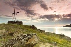 τα athos επικολλούν το τοπίο Στοκ Εικόνες