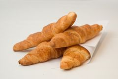 τα croissant γαλλικά Στοκ Φωτογραφία