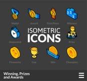 Τα Isometric εικονίδια περιλήψεων θέτουν 57 Στοκ εικόνες με δικαίωμα ελεύθερης χρήσης