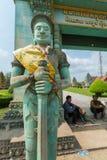 Τα Khmer αγάλματα στο ναό σε Siem συγκεντρώνουν, Καμπότζη Στοκ φωτογραφία με δικαίωμα ελεύθερης χρήσης