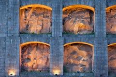 Τα LIT επάνω στις θέσεις Serra κάνουν το τριχώδες μοναστήρι στην Πορτογαλία Στοκ Φωτογραφίες
