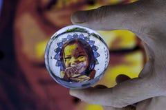 Τα murales με το διάτρητο χρησιμοποιούν σε Airola Ιταλία σε μια chrystal σφαίρα στοκ φωτογραφία με δικαίωμα ελεύθερης χρήσης