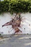 Τα murales με το διάτρητο χρησιμοποιούν σε Airola Ιταλία στοκ φωτογραφία