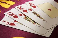 τα pokercards Στοκ φωτογραφία με δικαίωμα ελεύθερης χρήσης