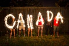 Τα sparklers του Καναδά παραγράφονται εγκαίρως φωτογραφία Στοκ Φωτογραφία