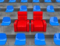 Τα VIP καθίσματα Στοκ Φωτογραφία