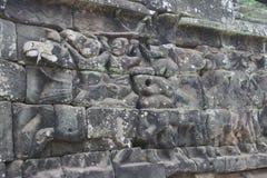 Τα Watt Angkor - τοίχοι καταστροφών ναών TA Prohm της khmer πόλης του angkor wat - δηλώνουν το μνημείο στοκ φωτογραφίες με δικαίωμα ελεύθερης χρήσης