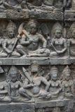 Τα Watt Angkor - τοίχοι καταστροφών ναών TA Prohm της khmer πόλης του angkor wat - δηλώνουν το μνημείο στοκ φωτογραφία με δικαίωμα ελεύθερης χρήσης