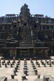 Τα Watt Angkor - τοίχοι καταστροφών ναών TA Prohm της khmer πόλης του angkor wat - δηλώνουν το μνημείο στοκ φωτογραφία