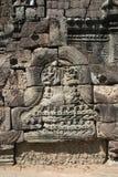 Τα Watt Angkor - τοίχοι καταστροφών ναών TA Prohm της khmer πόλης Angkor wat εγκαταστήστε στην Καμπότζη - δηλώνουν το μνημείο Στοκ Εικόνες
