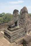 Τα Watt Angkor - τοίχοι καταστροφών ναών TA Prohm της khmer πόλης Angkor wat εγκαταστήστε στην Καμπότζη - δηλώνουν το μνημείο Στοκ εικόνες με δικαίωμα ελεύθερης χρήσης