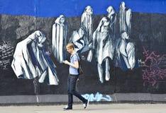 Τείχος του Βερολίνου, Βερολίνο, Γερμανία Στοκ Εικόνες