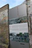 Τείχος του Βερολίνου - Γερμανία Στοκ εικόνες με δικαίωμα ελεύθερης χρήσης