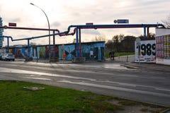 Τείχος του Βερολίνου στη στοά ανατολικών πλευρών Στοκ Εικόνες