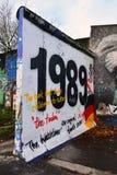 Τείχος του Βερολίνου 1989 Στοκ εικόνα με δικαίωμα ελεύθερης χρήσης