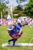Τεθειμένη ο Stone πειθαρχία στους σκωτσέζικους αγώνες ορεινών περιοχών στοκ φωτογραφία με δικαίωμα ελεύθερης χρήσης