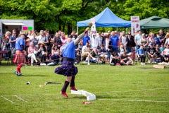 Τεθειμένη ο Stone πειθαρχία στους σκωτσέζικους αγώνες ορεινών περιοχών στοκ εικόνες