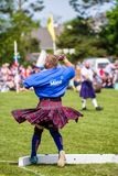 Τεθειμένη ο Stone πειθαρχία στους σκωτσέζικους αγώνες ορεινών περιοχών στοκ εικόνα με δικαίωμα ελεύθερης χρήσης