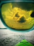 Τεθειμένος σε εκείνα τα σκιές και κύμα στο χθες Στοκ Εικόνα