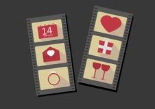 τεθειμένο s καρτών διάνυσμα βαλεντίνων κειμένων ημέρας εδώ απεικόνισή σας Στοκ φωτογραφίες με δικαίωμα ελεύθερης χρήσης