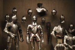 Τεθωρακισμένο ιπποτών παλαιού στοκ φωτογραφία με δικαίωμα ελεύθερης χρήσης