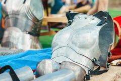 Τεθωρακισμένο ιπποτών ` s σιδήρου Στοκ Εικόνες