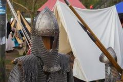 τεθωρακισμένο μεσαιωνικό Στοκ Εικόνες
